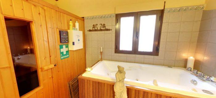 Sauna y bañera de hidromasaje